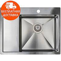 Мойка для кухни стальная Asil Hand Made AS 3069-L Light Brushed нержавеющая сталь