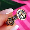 Срібне кільце-оберіг з молитвою Ангелу Хранителю - Кільце на великий палець Ангел Хранитель з позолотою, фото 4
