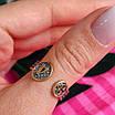 Срібне кільце-оберіг з молитвою Ангелу Хранителю - Кільце на великий палець Ангел Хранитель з позолотою, фото 2