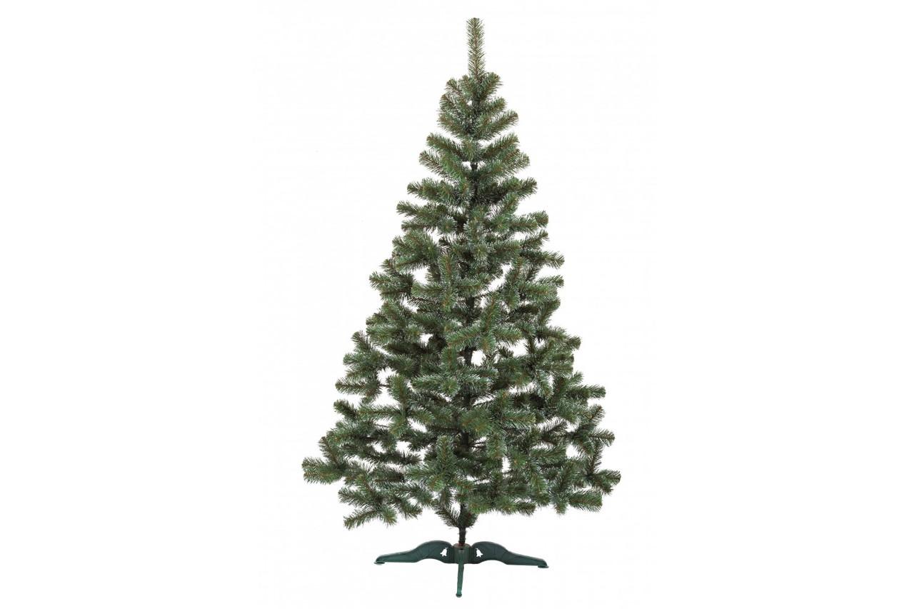 Ель искусственная новогодняя Сказка Зеленая с Белыми кончиками 150см  БК-1,50