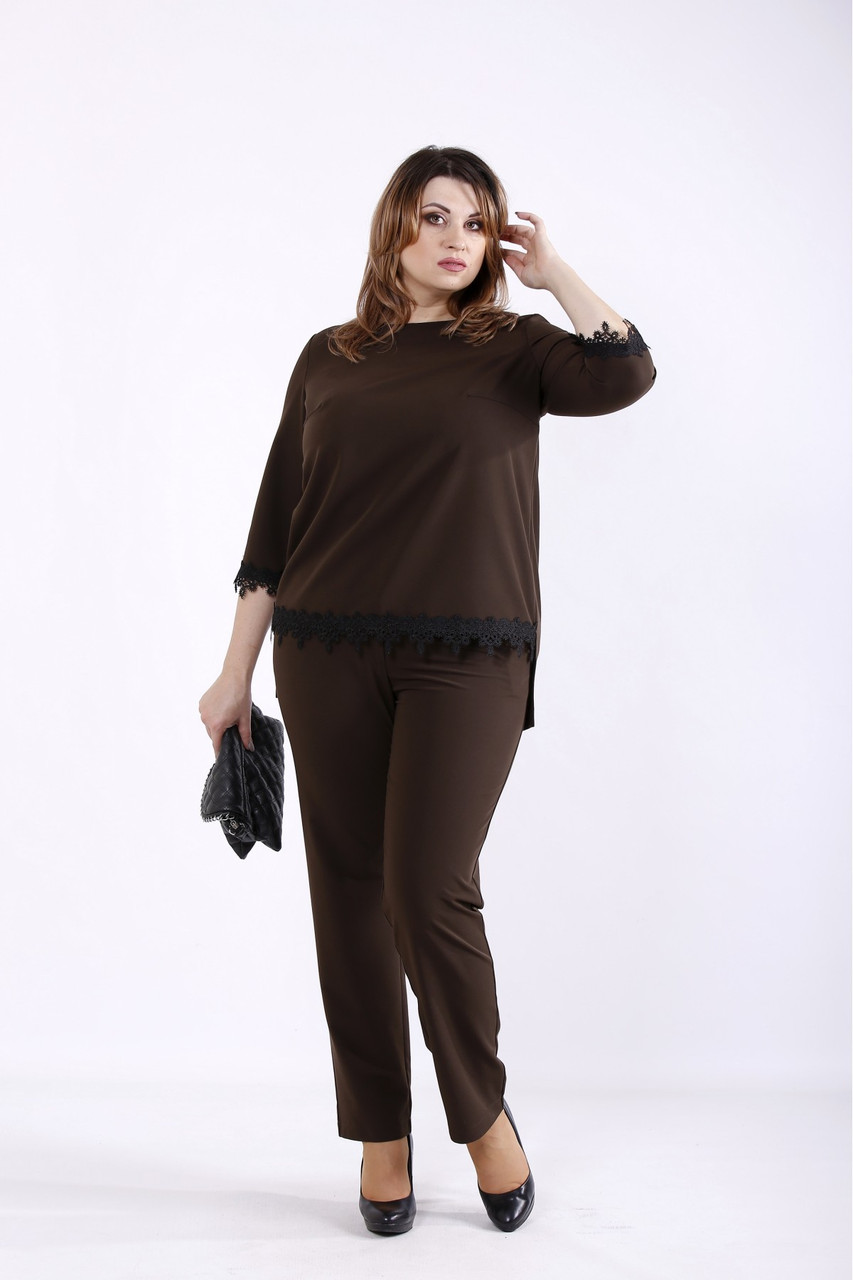 01318-2 | Шоколадний костюм великого розміру 42-74.