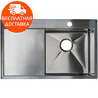 Мойка для кухни стальная Asil AS 3071-L Light Brushed нержавеющая сталь, фото 1