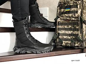 Армійські черевики-берці зимові нубук,на хутрі,чорні, фото 2