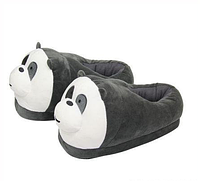 Мягкие тапочки кигуруми Панды