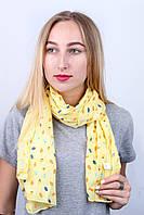 Шарф Каролина листочки желтый 140*45 (N-17-023-WJ)