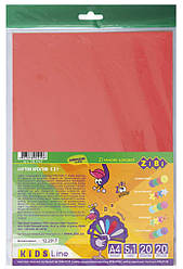 Набір кольорового картону, А4, КРЕАТИВ, 20 арк.