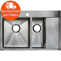 Мойка для кухни стальная Asil AS 3054-R Light Brushed нержавеющая сталь