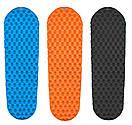 Туристичний надувний килимок з насосом, матрац lighttour (овал) Туристичний надувний килимок, матрац, каремат. синій, фото 9