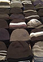 Мужская шапка шерстяная на флисовой подкладке .