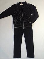 Костюм трикотажный с паетками для девочки р.4-12 F&D 4, черный