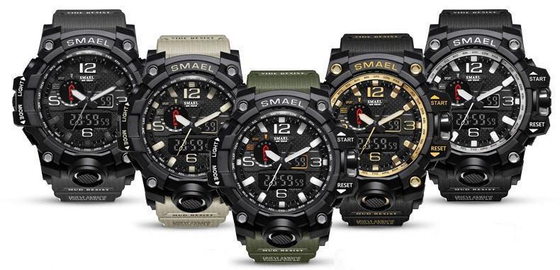 Чоловічі спортивний годинник водостійкий Smael 1 545