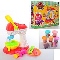 Пластилин, игровой набор для лепки « Мороженое» MK 3884 (6 цветов)
