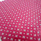 """Экокожа  с глиттерным узором """"ромбики"""", 30х20 см, цвет бордовый, фото 3"""