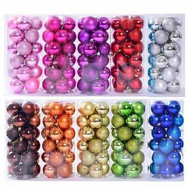 Новогодние пластиковые шары