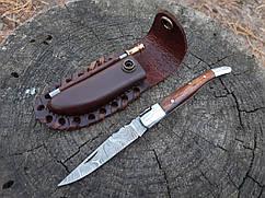 Нож складной  из дамасской стали+ точилка ручная работа ,эксклюзив Спа