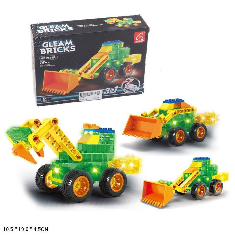 Конструктор Gleam Bricks, светящ, 73дет,   в кор 18*13,5*4,5 см /48-2/