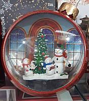 """Новорічний декор лампа - """"Ялинкова іграшка"""" зі снігом Snow Globe BIG"""
