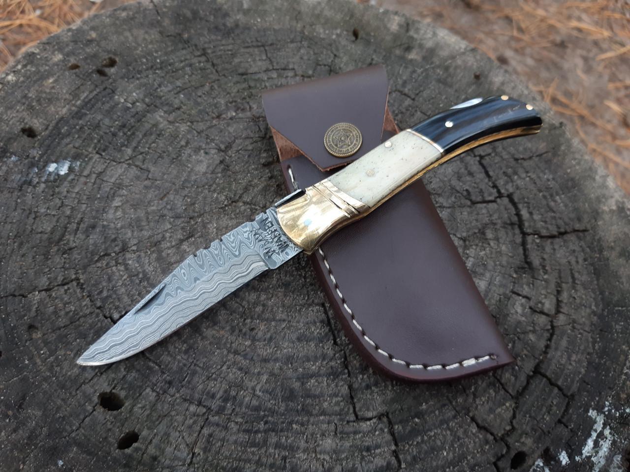 """Нож  складной компактный дамаск  """"c-70"""""""