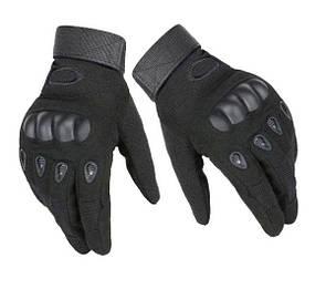 Тактические перчатки с пальцами и костями, полнопалые Oakley реплика (Airsoft) черные.