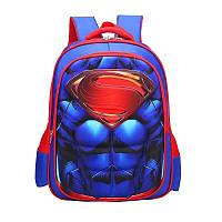 Рюкзак детский ортопедический школьный портфель женский мужской чоловічий жіночий Супермэн