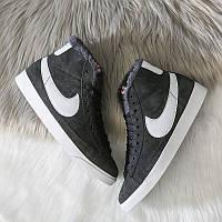 Женские зимние кроссовки Nike Blazer Mid