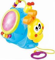 Развивающая игрушка Улитка на веревочке с музыкой
