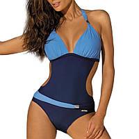 Женский купальник-монокини с пряжкой темно-синий Марко, фото 1