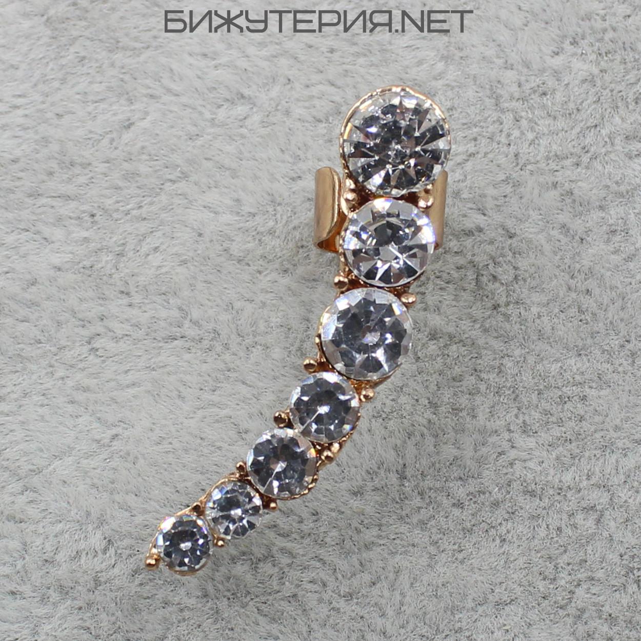 Серьги Каффы JB с кристаллами  - 1064823781