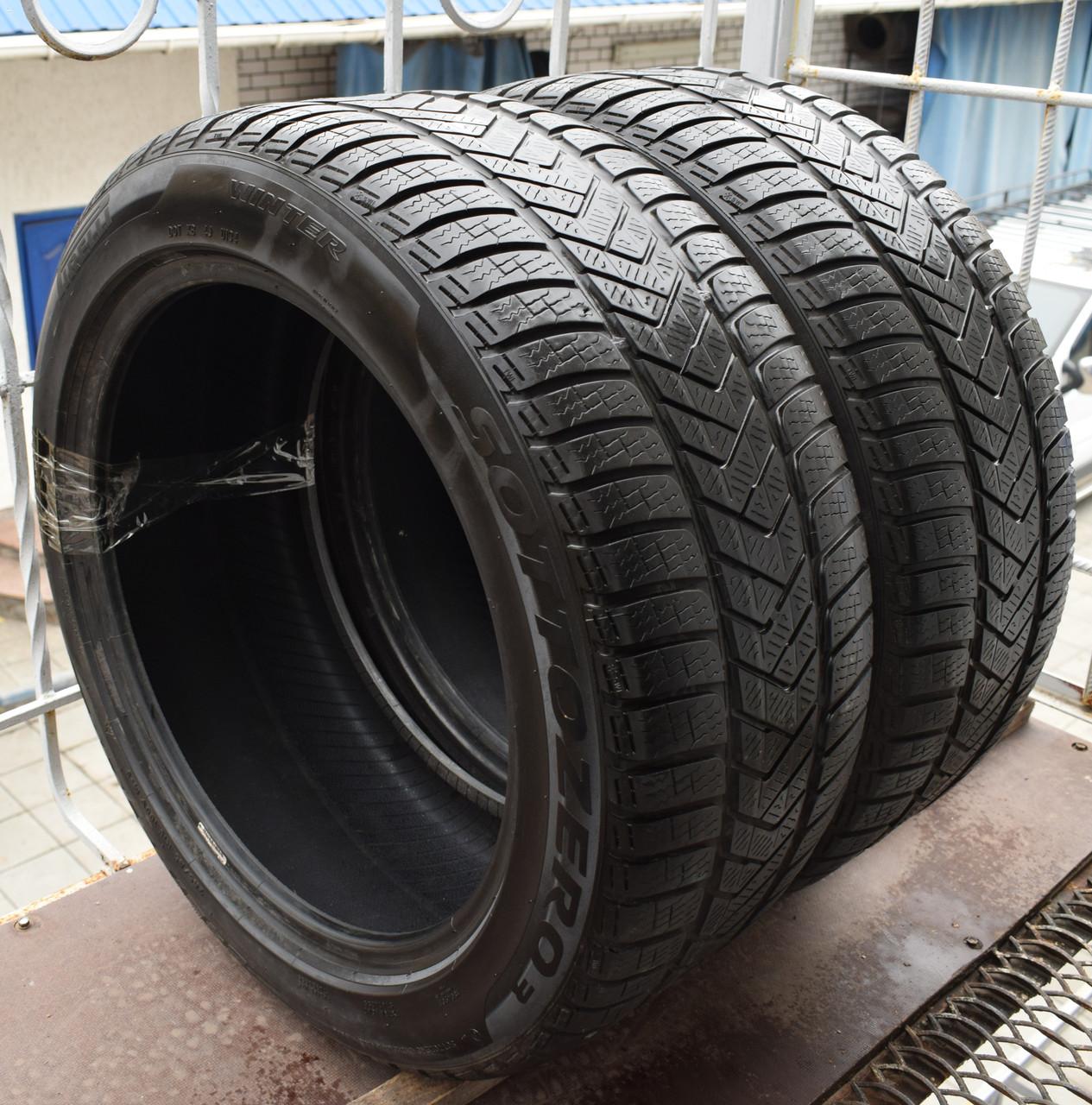 Шины б/у 245/45 R18 Pirelli Winter Sottozero 3, ЗИМА, пара