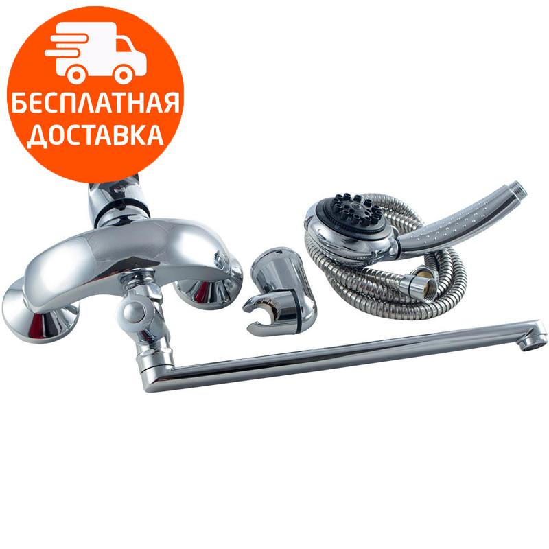 Смеситель для ванны длинный излив Touch-Z Mars 005 EURO хром