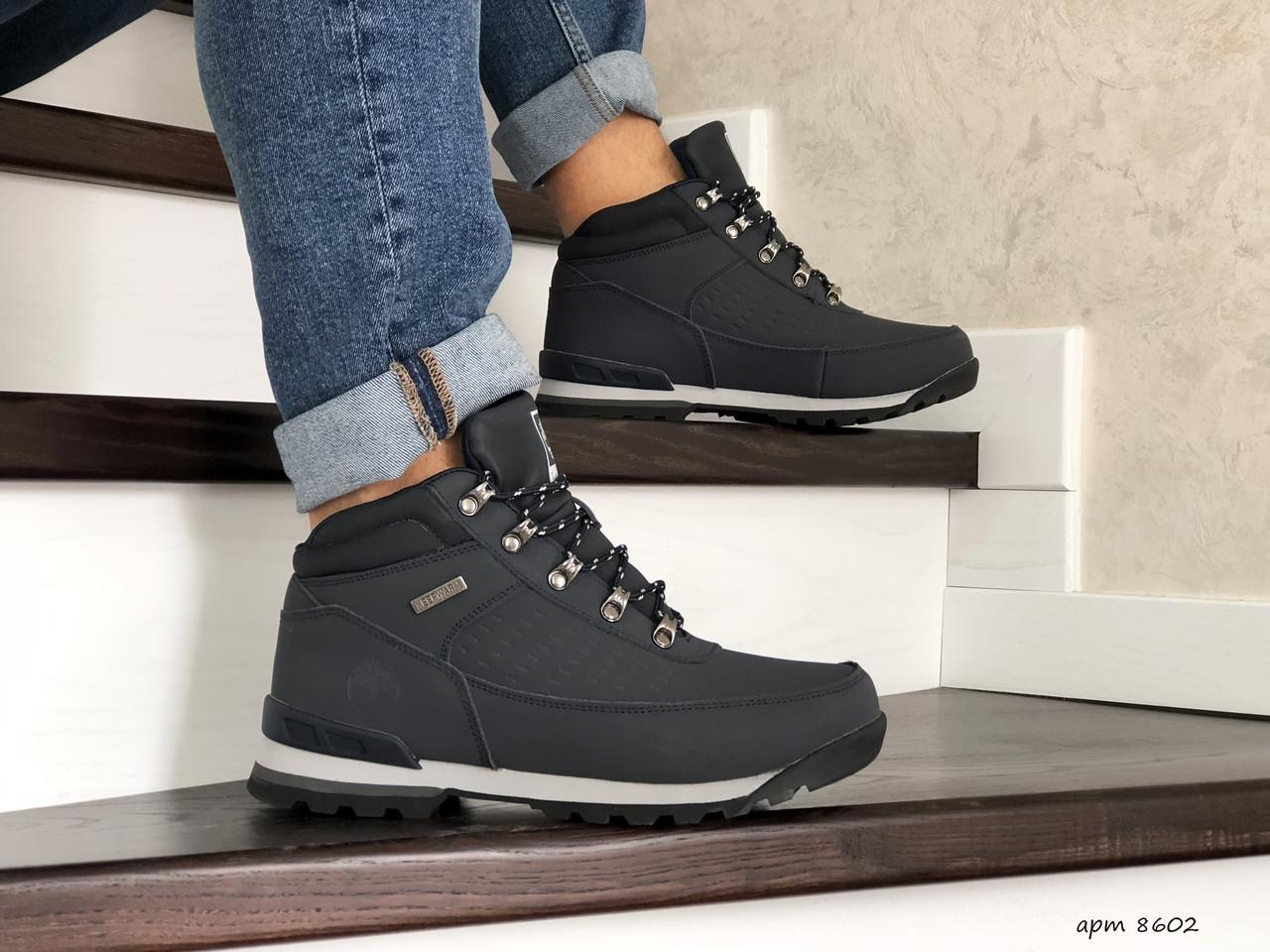 Чоловічі зимові черевики Timberland,на хутрі,темно сині