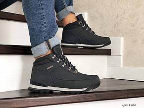 Чоловічі зимові черевики Timberland,на хутрі,темно сині, фото 2