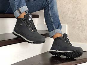 Чоловічі зимові черевики Timberland,на хутрі,темно сині, фото 3