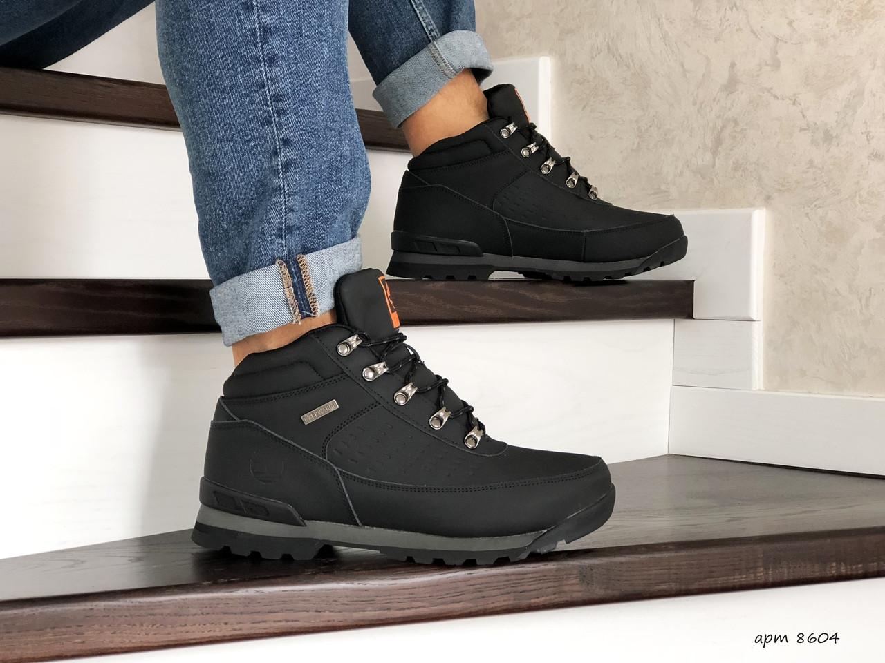 Чоловічі зимові черевики Timberland,на хутрі,чорні