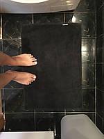 Полотенце коврик для ног  50х70 см Аisha черный  (Узбекистан)