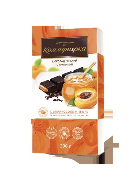 Шоколад  з абрикосовим пюре 200 г