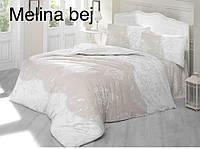 """Евро-комплект постельного белья """"Altinbasak""""Melina bejj Ранфорс. Турция"""