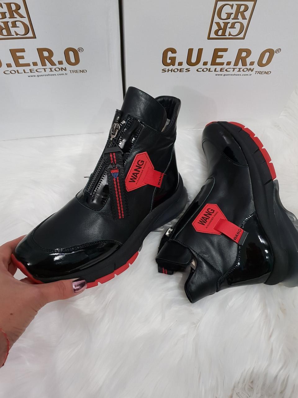 Женские осенние ботинки из натуральной кожи
