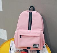 Рюкзак с полосой розовый