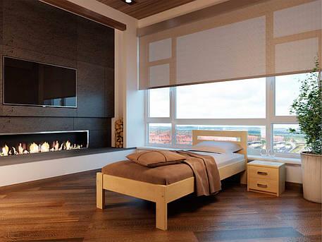 Односпальне ліжко НеоМеблі Соната 120х200 (NM12/200), фото 2