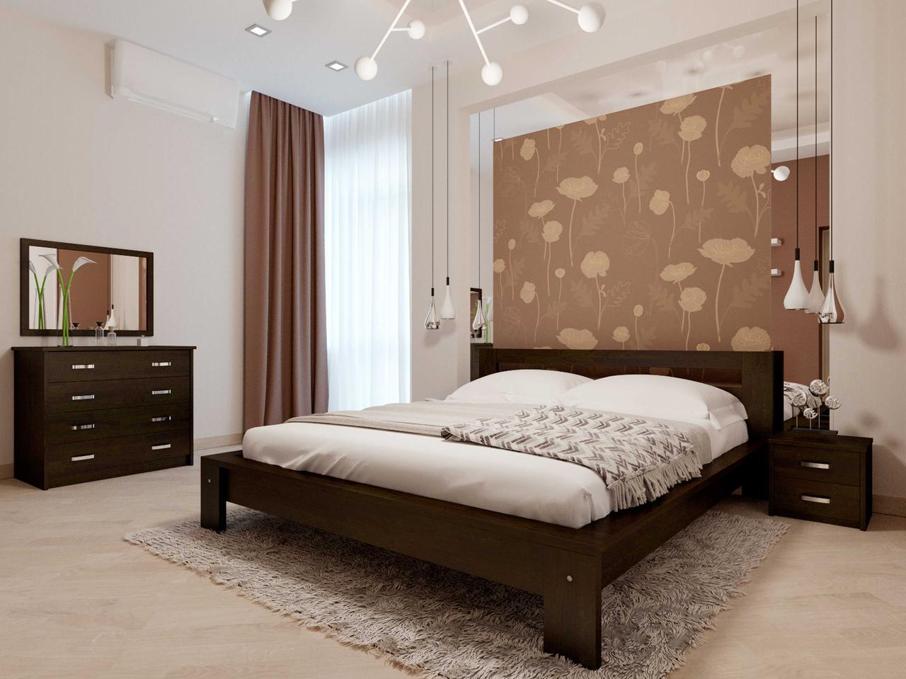 Двоспальне ліжко НеоМеблі Сакура 180х190 (NM30)