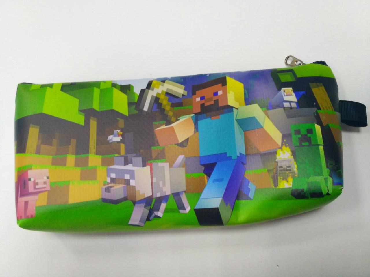 Пенал школьный Майнкрафт / Minecraft 22*11 см