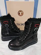 Жіночі зимові шкіряні черевики