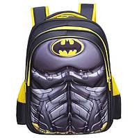 Рюкзак детский ортопедический школьный портфель женский мужской чоловічий жіночий твёрдый Бэтмэн