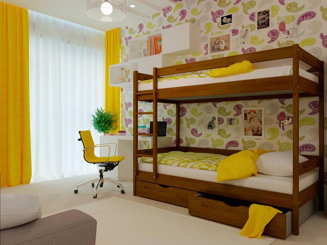 Двоярусне ліжко НеоМеблі Твікс 80х200 (NM33/200)