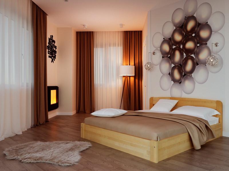 Односпальне ліжко НеоМеблі Октавія з підйомним механізмом 90х200 (NM37)