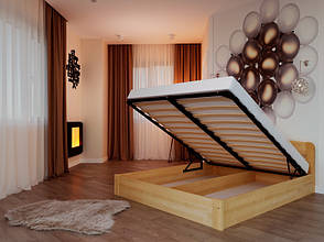 Односпальне ліжко НеоМеблі Октавія з підйомним механізмом 90х200 (NM37), фото 2