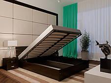 Двоспальне ліжко НеоМеблі Лагуна з підйомним механізмом 160х200 (NM43), фото 3