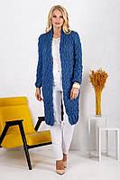 Кардиган вязанный длинный джинс 018_246883 #O/V