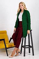 Кардиган вязанный длинный зеленый 018_246885 #O/V